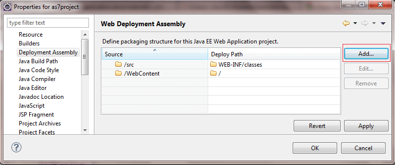 assembly deployment eclipse