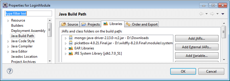 mongodb java jboss wildfly
