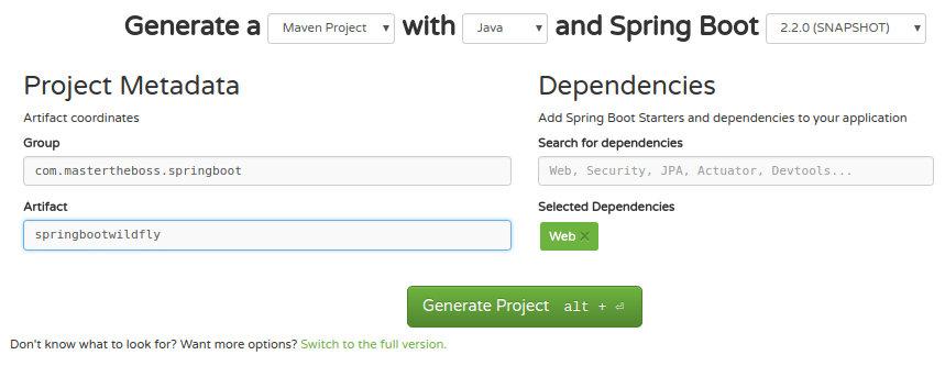 Spring Boot Hello World JBoss