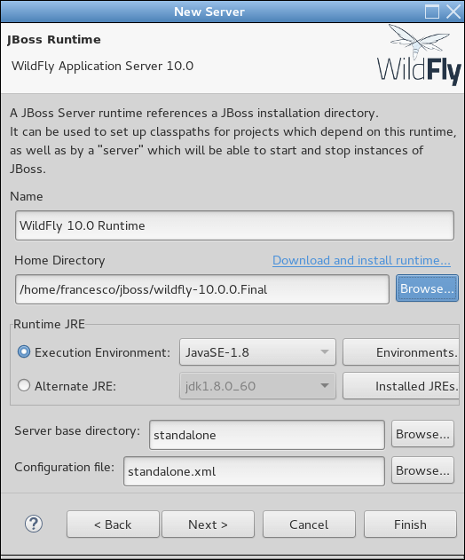 wildfly10 eclipse